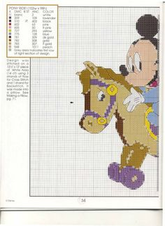 Mickey Mouse and Minnie on a toy horse ~ Saved from kim-3.gallery.ru