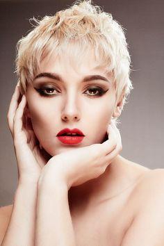 © Copyright Ella Tebbutt Photography 2015. Makeup Ella Tebutt. Model Dani Race Hair Phie's Salon  short hair pixie messy texture