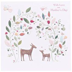 Buy Paper Rose Deer Mother's Day Card Online at johnlewis.com