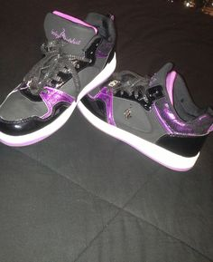 Black and purple Baby Phat shoes Baby Phat Shoes, Shoe Boots, Cl Shoes, Purple Baby, Great Hairstyles, All About Shoes, Athletic Shoes, Kicks, Sandals
