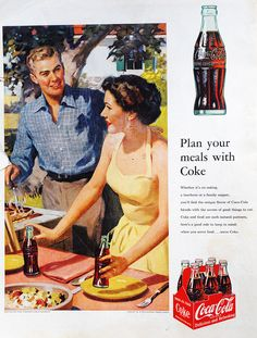 Coke Ignites That Suburban Romance 1952