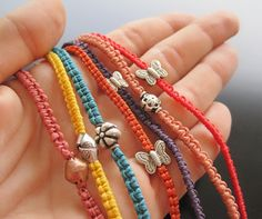 Macrame Bracelets by Maria Apostolou, via Flickr