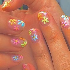 Cute Acrylic Nail Designs, Simple Acrylic Nails, Summer Acrylic Nails, Best Acrylic Nails, Simple Nails, Spring Nails, Simple Nail Design, Nail Art Designs, Design Art