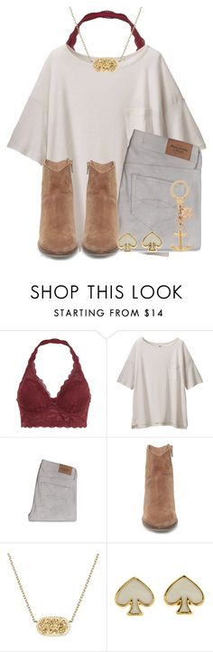 ive got thick skin, and an elastic heart. //Ella by preppy-southerners on Polyvore featuring Uniqlo, Abercrombie & Fitch, Steve Madden, Kate Spade and Kendra Scott