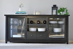 This TV Stand doubles as a lovely buffet!   Sauder Furniture