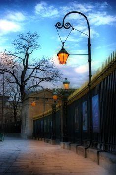 beautiful lanterns line the street