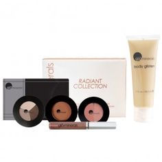 Enhance your natural beauty and radiance with the Radiant Collection from glo. The collection combines complementary shades for eyes, cheeks, face, lips and body for a long-lasting easy-to-apply look you'll love..