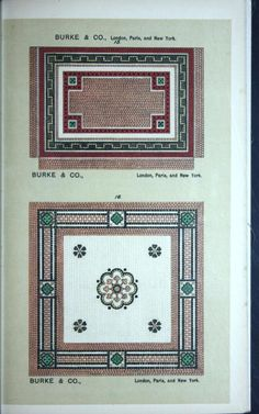 Designs for marble mosaic pavements and decorat...