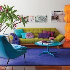 Bright Room Colors And Modern Ideas For Decorating Small Apartments Homes