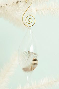 Captured Plume Ornament #anthropologie