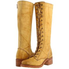 Frye Campus Lug Lace Women's Lace-up Boots, Yellow ($240) ❤ liked on Polyvore featuring shoes, boots, yellow, zipper boots, lacing boots, lace-up platform boots, lace up shoes and platform shoes