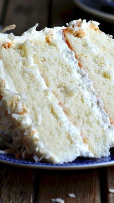 Southern Coconut Cake ~ A light and tender layer cake with the flavor of coconut through and through.