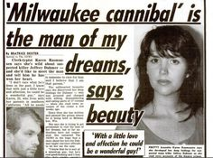 Jeffrey Dahmer was a serial killer who murdered 17 men during in the US. Read about his crimes, capture, trial and murder. Famous Serial Killers, Jeffrey Dahmer, Natural Born Killers, Ted Bundy, Criminology, Scary Stories, Psychology Facts, Criminal Justice, My Tumblr
