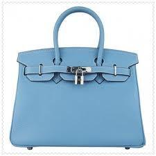 blue birkin bag - love it