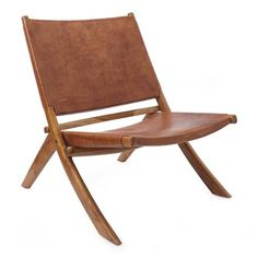 Discover our Kamaru Leather Chair made from leather & teak wood in cognac ✓ Free delivery over ✓ 100 days free returns ✓ Shop now! Balcony Table And Chairs, Outdoor Chairs, Outdoor Decor, Lounge Chairs, Rattan Stool, Recycled Plastic Adirondack Chairs, Living Room Accessories, Chair Bench, Mid Century Style