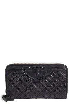 Tory Burch 'Fleming' Quilted Lambskin Leather Continental Wallet available at #Nordstrom