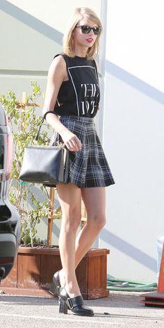 Taylor Swift saia xadrez plaid skirt