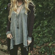 sweaters in grey and brown <3