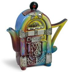 Juke box tea pot from Bing Images