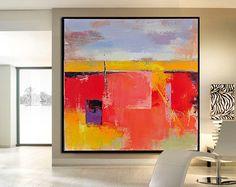 Handmade Large Contemporary Art Canvas Painting di CelineZiangArt