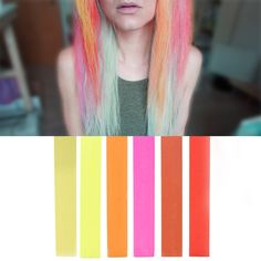 HOT Colors Ombre Hair Color Set | 6 PINK RED STRAWBERRY BLONDE Hair Dye Shades | With Shades of Beige, Yellow, Orange, Pink, Coral and Red A Pack of 6 Temporary Hair Chalk | Color your Hair Red to Blonde Ombre in seconds with temporary HairChalk ** Check out the image by visiting the link.