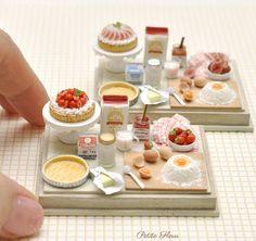 #miniature #food #minifood #strawberry #tarts #butter #flour #egg