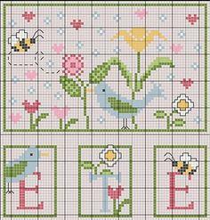 Summer - free cross stitch pattern