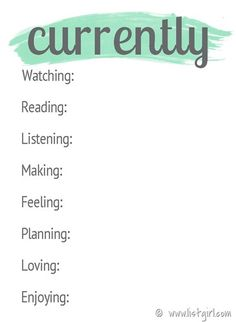 Free Currently Journal Cards from Fabulous Adventures of Listgirl