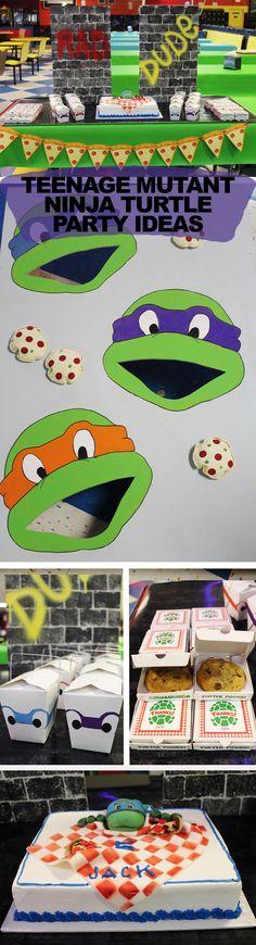 Teenage Mutant Ninja Turtle Party, Teenage Mutant Ninja Turtle Party Ideas, Teenage Mutant Ninja Turtle Party Theme, TMNT Party Ideas