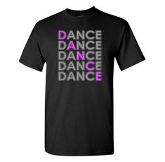 This simple, yet fun, dance design is a unique gift for any dancer. Design shown in silver and lavender HTV {print} on a black unisex t-shirt. HTV (print) colors can be changed. Color options are shown in the photo section of the listing. Disclose the print color in the Note to