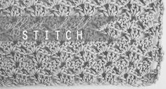 Offset shell stitch pattern.  Good for baby blankets, neck warmers, scarves, and more.