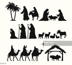 Vektorgrafik : Nativity Silhouette