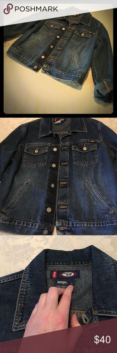 Like New Bongo Denim Jacket Juniors Size L Button Front Closure; Gently Worn; Like New BONGO Jackets & Coats Jean Jackets