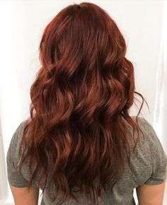 """Lately our eye has been caught, time and again, by gorgeous redheads of every variety--auburn spice, violets, deep plum reds and today, it's this rich """"real"""" red by Kate (@katieclairedoeshair), a stylist at Mandie Sue Salon in Lehi, UT. """"This red gives me heart eyes every time I do this cute girl's hair,"""" says Kate. """"It's the perfect balance of vibrant red and natural red and it's so perfect with her personality and skin tone you would never guess it's not her natural color."""" FORMULA"""