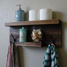 upstairs bath simply modern rustic bathroom shelf by keodecor on etsy