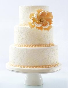 wedding cake idea; via Le Dolci Cupcakes and Cakes