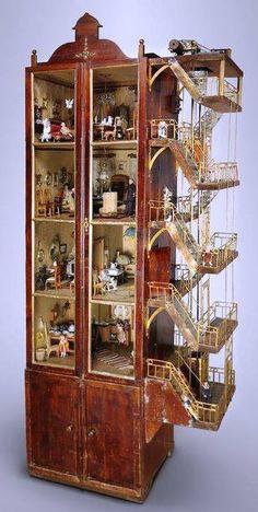 Art Nouveau dollhouse - be still my heart.