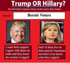 #BernieSanders supporters have to decide if they will forgive #Hillary or try to stop her from once again living in the #WhiteHouse. When it came to the #Primaries #HillaryClinton didn't think about the results of all her mudslinging. One would have thought she learned her lesson after all the mudslinging she did to #Obama in 2008, only to turn around and compliment him in 2016 and rely on his endorsement to boot. #DonaldTrump