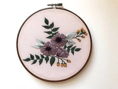 Modern Hand Embroidery Kit for Beginners Embroidery Pattern