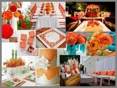 Dark orange wedding theme