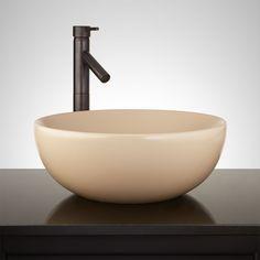 Toucey+Porcelain+Vessel+Sink+-+Beige