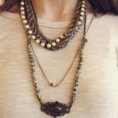 Be unique with Lenny and Eva layered necklaces #lennyandeva #materialgirlsct