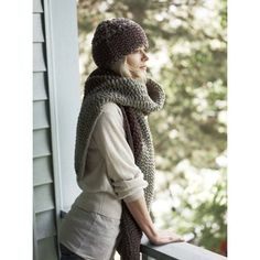 Canyon Divide Hat and Scarf in Imperial Yarn Bulky 2 Strand - P116 (Downloadable PDF)