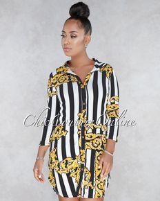 Dresses - SHORT DRESSES - Page 1. RobeOr Blanc NoirImprime OrClubwearRobes  CourtesPaillettesChicL inspiration De StyleRobes ed3a8a9b0dea