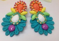 Imagen relacionada Jewelry Making Tutorials, Pretty Face, Earrings Handmade, Jewelry Crafts, Jewels, Jewellery, Creative, Cute, How To Make