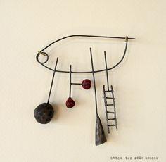 Catch the Seed Brooch- Liisa Hashimoto