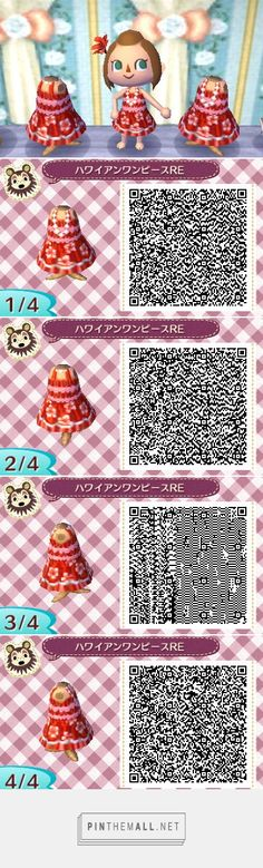 Hybiscus summer dress, available in red, orange, blue and pink Animal Crossing Qr Codes Clothes, Qr Code Animal Crossing, Pink And Blue Dress, Leaf Animals, Tropical Dress, Game Codes, Clothing Patterns, Memories, Collection