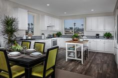 Table or island. Where you sit in this eat-in kitchen is up to you; just like the menu.