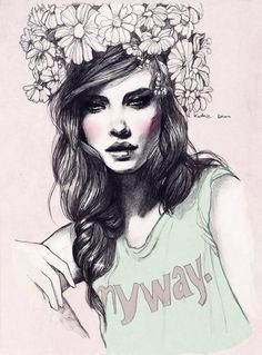 Kasia Jagielnicka is an artist from Poland who created amazing feminine drawings with elegant and intricate style. The delicate line art is just stunning in the epic portrayal.