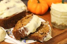 Pumpkin Banana Bread with Cream Cheese Frosting